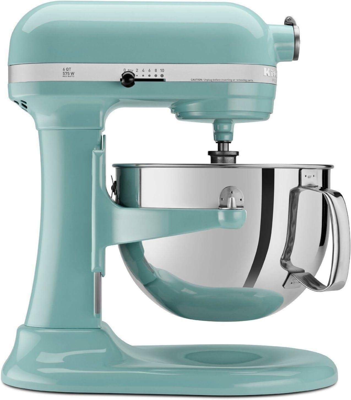 Kitchenaid Professional 600 Stand Mixer 6 quart, Aqua Sky (Renewed)