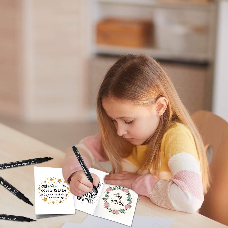 Schwarze Kalligraphie Kugelschreiber Pinsel Marker Stift f/ür Schriftzug Beschriftung Anf/änger Tagebuch 12 Gr/ö/ßen Kalligraphie Stifte Unterschrift Design und Zeichnung