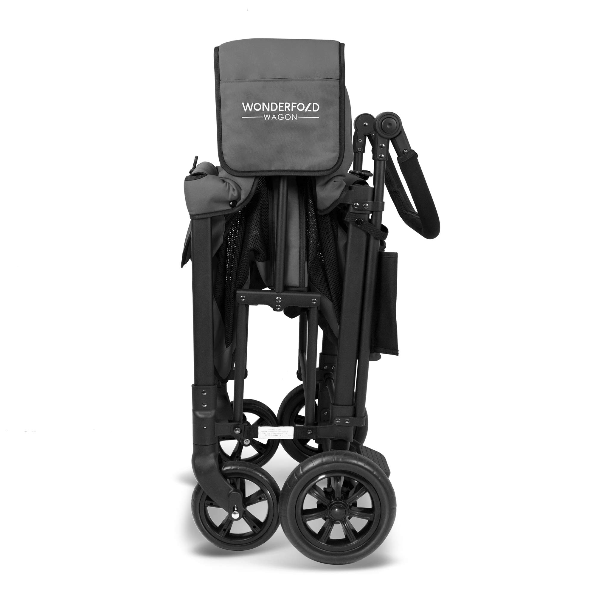 WonderFold Multi-Function Push 2 Passenger Double Folding Stroller, Adjustable Canopy & Removable Chair Seat Up To 2 Toddlers (Charcoal Gray) by WonderFold (Image #6)