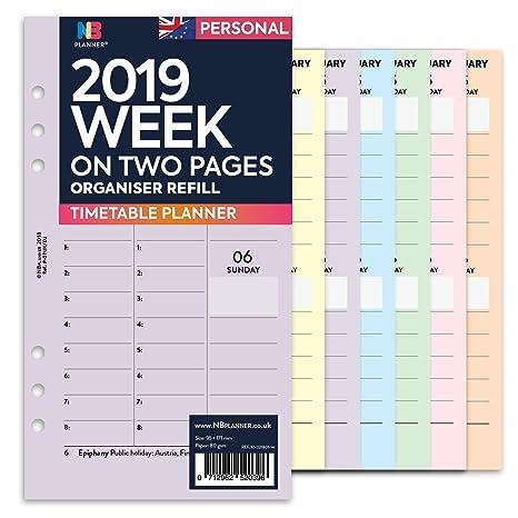NBplanner® 2019 - Recambio para agenda de recambio de agenda ...