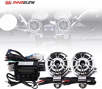 INNOGLOW Motorcycle Stereo Speakers Waterproof