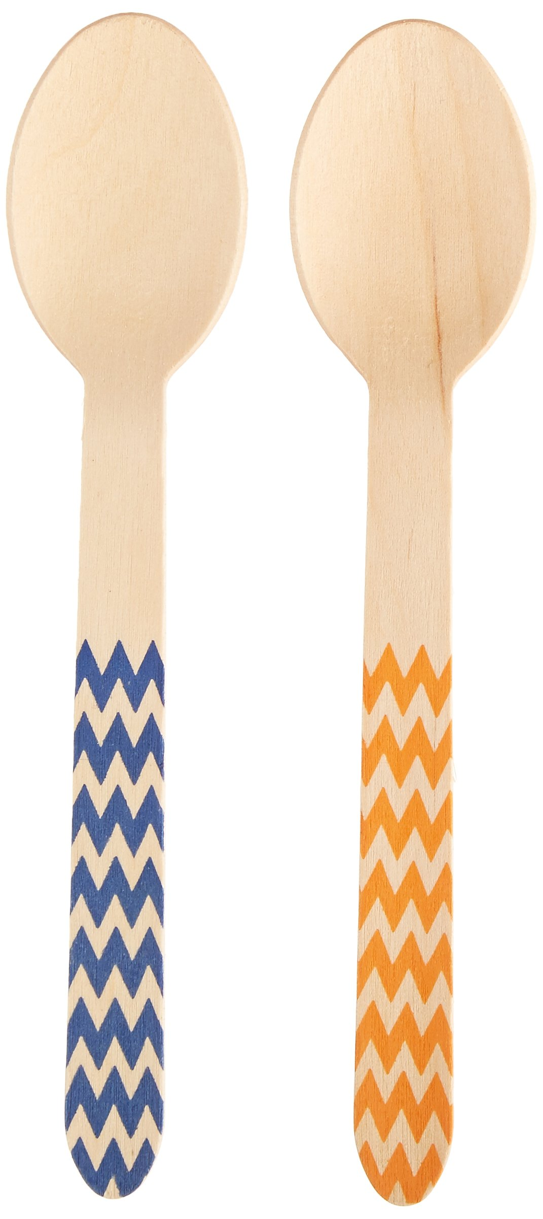 Perfect Stix GDS 158-100 Wooden Disposable Cutlery Spoon, 6'', Printed Game Day Colors (Pack of 100)
