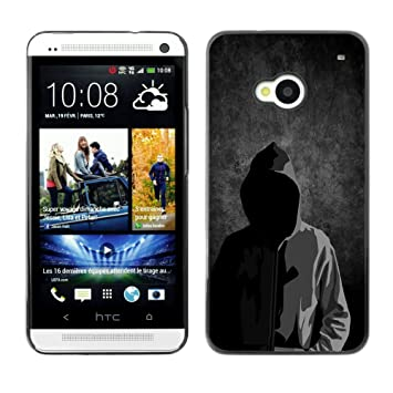 separation shoes promo codes great look QCASE / HTC One M7 / anonyme masque sans visage homme ...