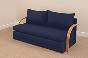 Comfy Living Fold Out Double Foam Sofa Bed Chloe   NAVY: Amazon.co