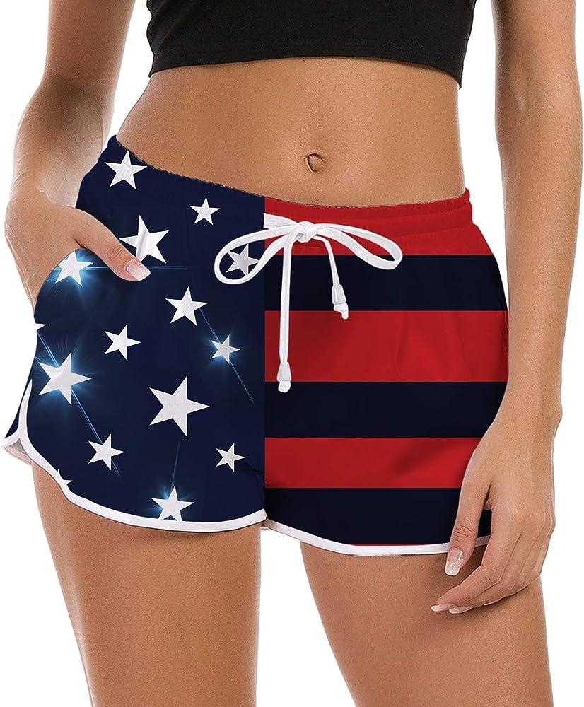 Bon Jovi Logo Womens Board Short Quick Dry Fabric Women Swim Shorts for Beach Or Swim