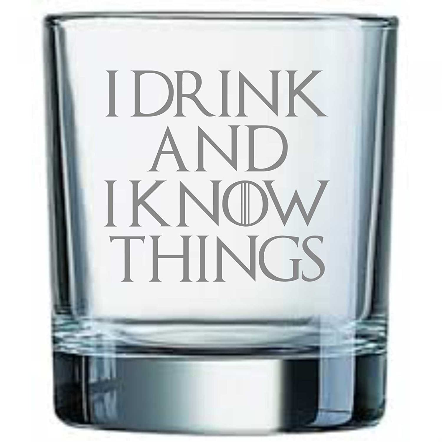 Derwent Laser Craft I Drink and I Know Things Game of Thrones Inspired Whiskey Tumbler Glass 5055582595654