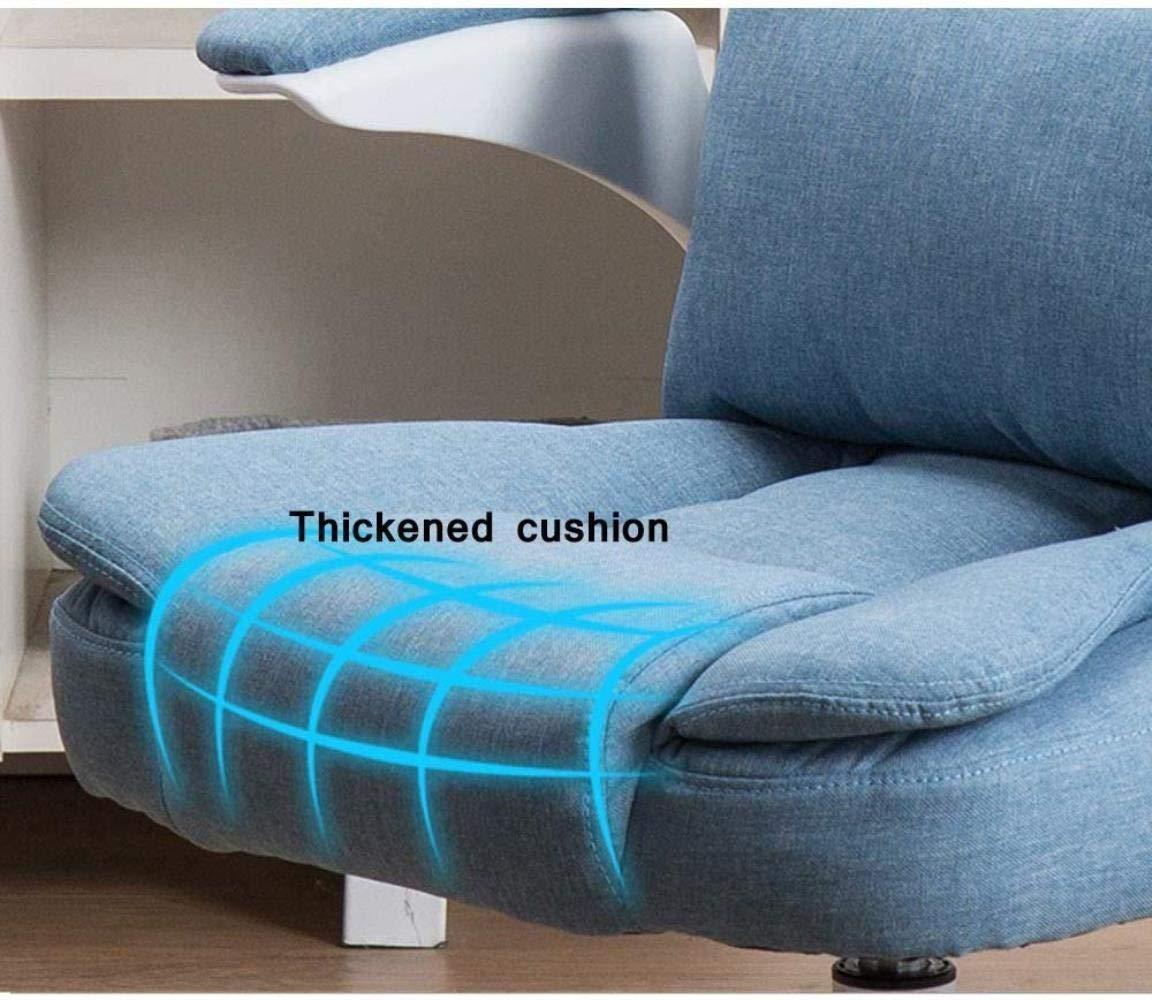 Barstolar Xiuyun kontorsstol spelstol svängbar stol, grå tyg dator skrivbord stol hög rygg verkställande uppdrag spelstol med armstöd - 5 färger svängbar stol (färg: Kaki) BLÅ