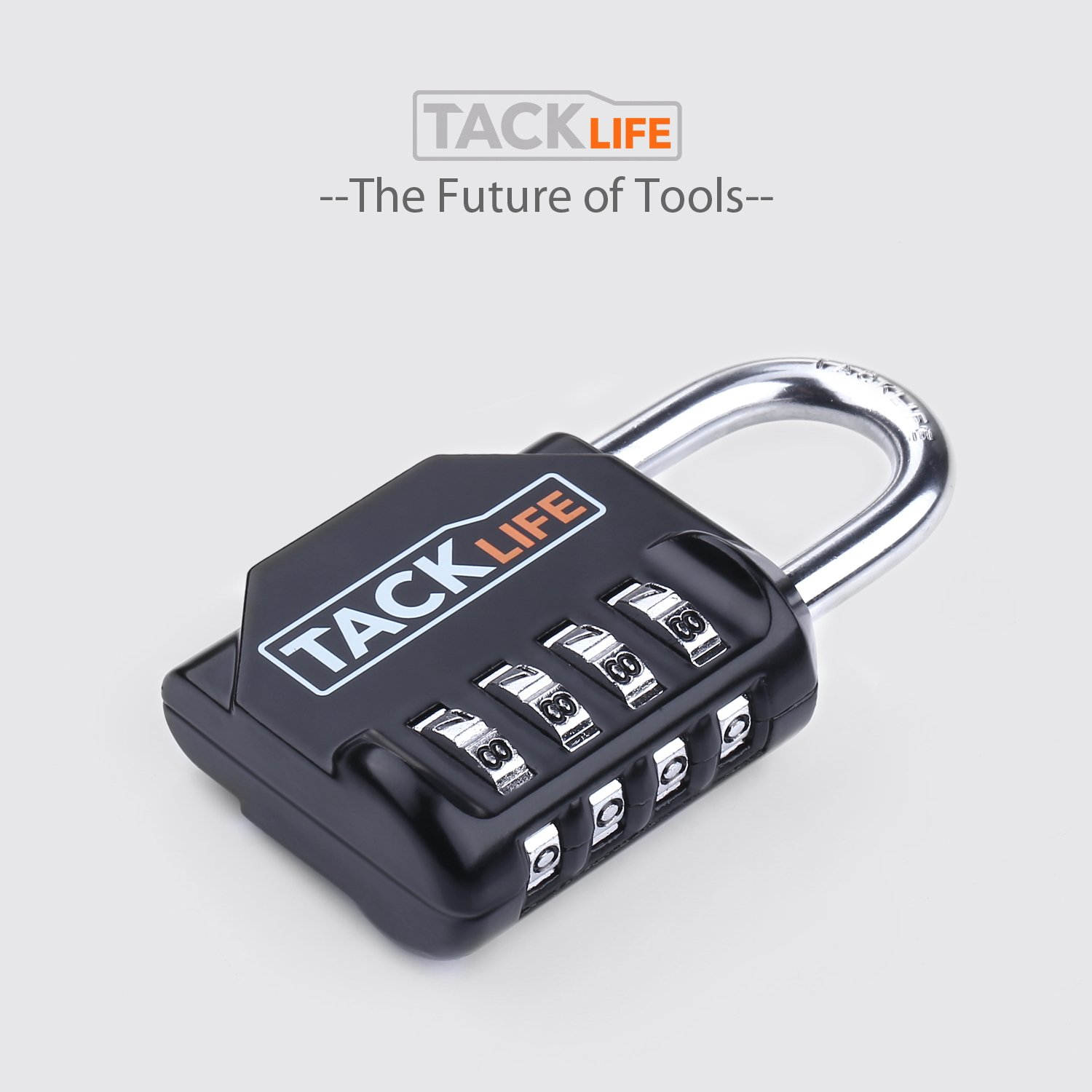 Padlock, Tacklife Luggage Locks HCL1B 4 Digit Combination Lock, Metal and Plated Steel Material for School, Gym or Sports Locker, Case, Toolbox, Fence, Hasp Cabinet and Storage, Pack of 2
