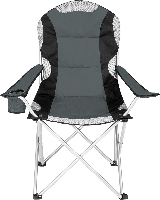 Rembourrage en Mousse tectake Chaise de Camping Fauteuil Pliable avec Porte-Boisson et Sac de Transport diverses Couleurs et Tailles au Choix