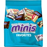 Mars Chocolate Favorites Minis Size Candy Bars Assorted Variety Mix Bag, 8.9 Oz