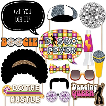 Amazon.com: 70's Disco - Photo Booth Props Kit - 20 Count: Toys ...