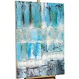 100 handgemalt gem lde bilder leinwand 1 teilig abstrakt wandbilder 93254 - Wandbild petrol ...