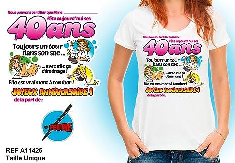 Camiseta - 40 cumpleaños mujer: Amazon.es: Salud y cuidado ...