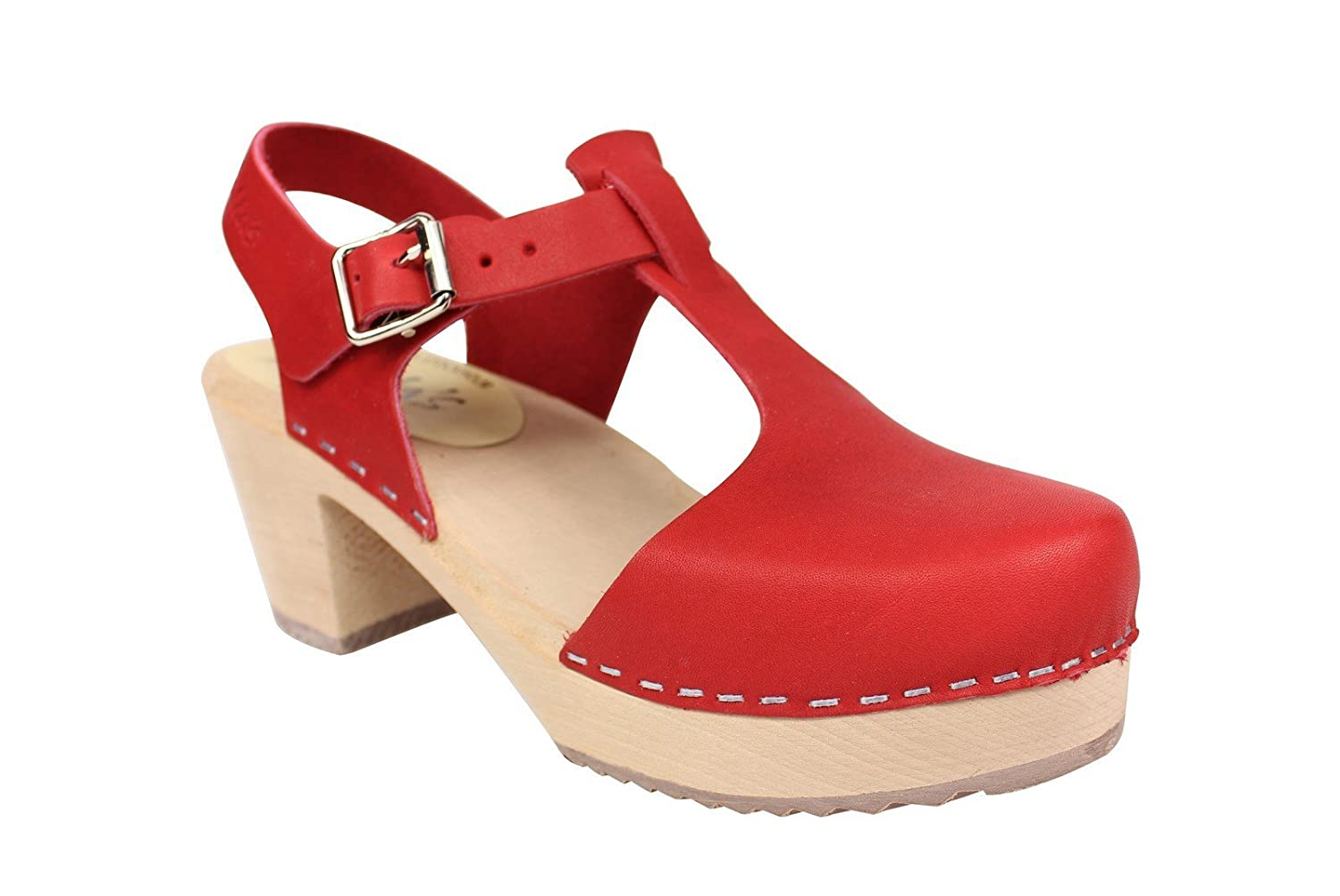 88902979643d4 Lotta From Stockholm Highwood T-Bar Clogs in Red