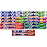 Mentos,(2 Of Each Flavor) The Chewy Mint Sampler/Bundle - Mint, Cinnamon, Strawberry, Spearmint, Green Apple, Fruit and