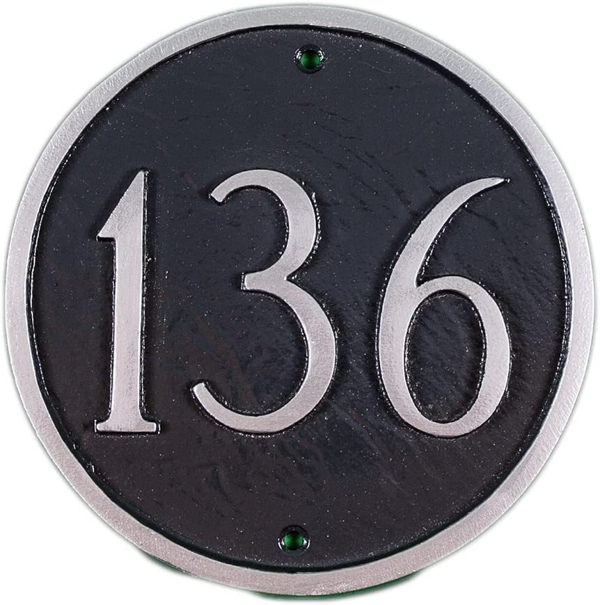 Montague Metal Products 9.5-Inch Standard Plaque Nashville-Davidson Mall Address Circle Ranking TOP7