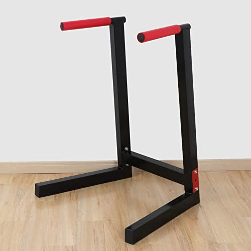 ZENY Heavy Duty Dip Station Dip Bar Dip Stand Full Pull Up Parallel Bar Fitness Station Strength Training Home Gym Exercise Workout Equipment w Non-Slip Grips 440lbs Capacity