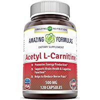 Amazing Formulas Acetyl LCarnitine - 500 Mg, 120 vcaps