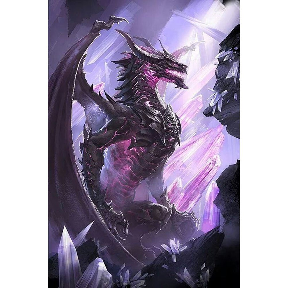 DIY 5D Diamond Painting Kit Full Diamond Purple Dinosaur Embroidery Square Resinstone Cross Stitch Arts Craft Supply for Home Wall Decor WanXing