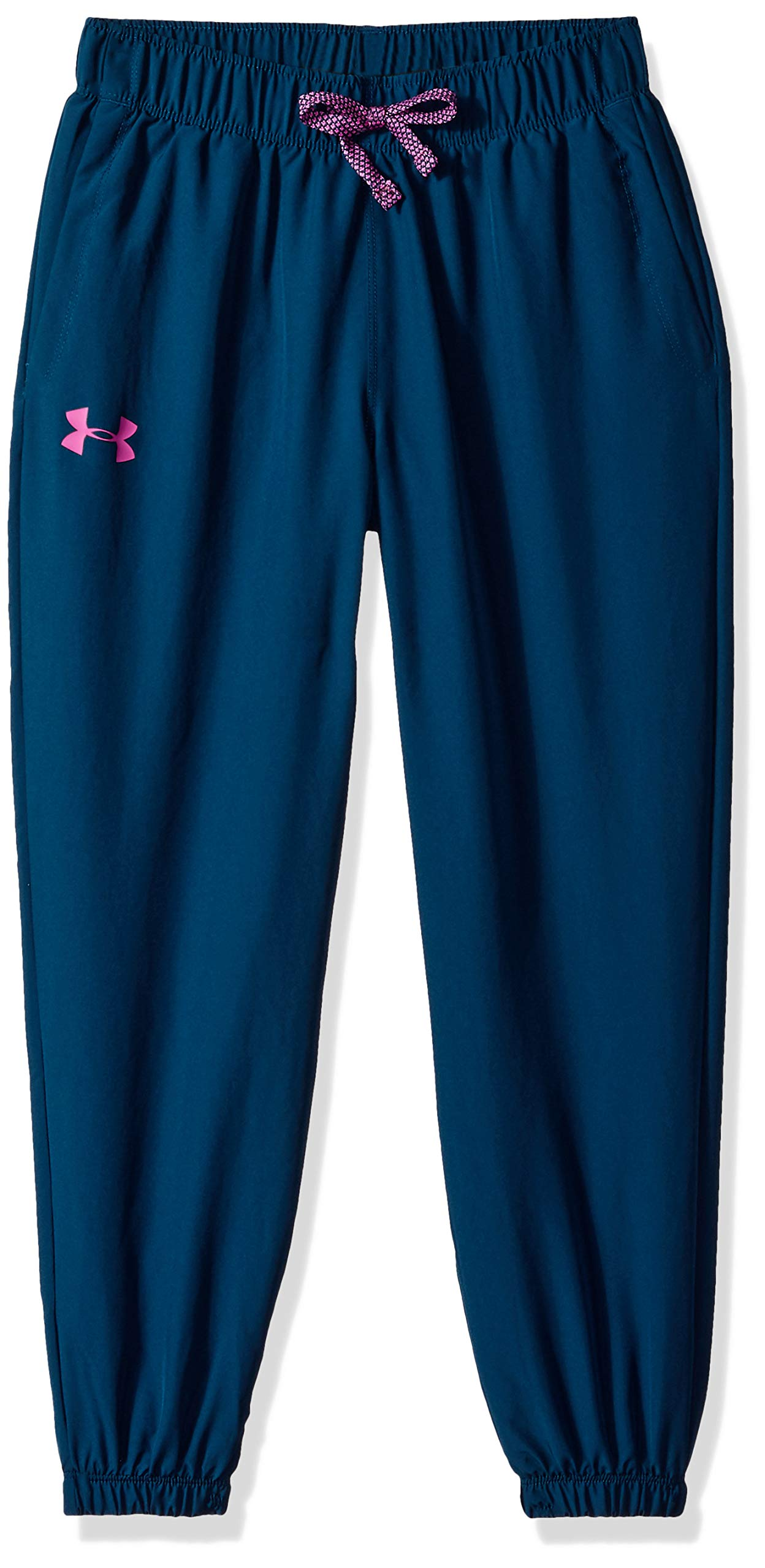 Under Armour Girls Phenom Pants, Techno Teal (489)/Fluo Fuchsia, Youth X-Small by Under Armour