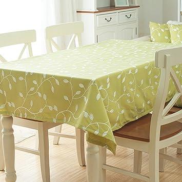 Polyester Leinen Kaffee Tischdecke, Rund, Modern Minimalist Druck Wohnzimmer  Tischdecke, Grün, Size