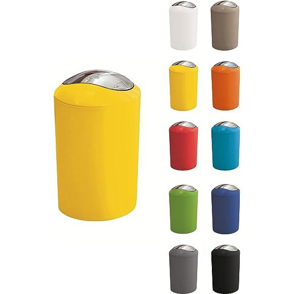 """Kleine Wolke """"Glossy"""" 3ltr Swing Bin (Yellow)"""