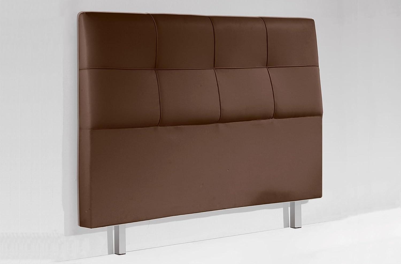 Cabecero tapizado con patas para dormitorio modelo CHESTER de 150 cm color blanco - Sedutahome: Amazon.es: Hogar