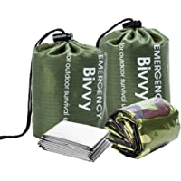 BesWlz Emergency Sleeping Bags, Survival Bivvy Sack Lightweight,Waterproof Portable Mylar Survival Gear for Outdoor…