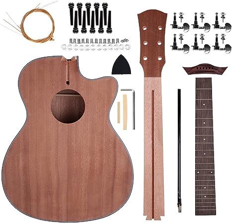 Zimo acústica cuerdas de acero guitarra hacer tu propia guitarra ...