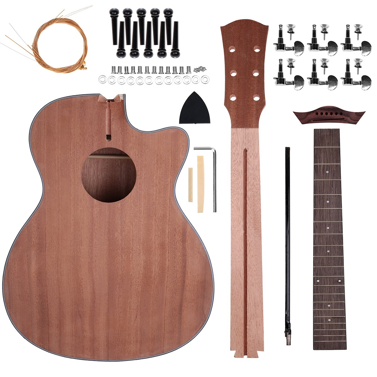 Acoustic Steel Strings Guitar Make Your Own Guitar Diy Guitar Kits 40 Inch For Music Lover Sapele