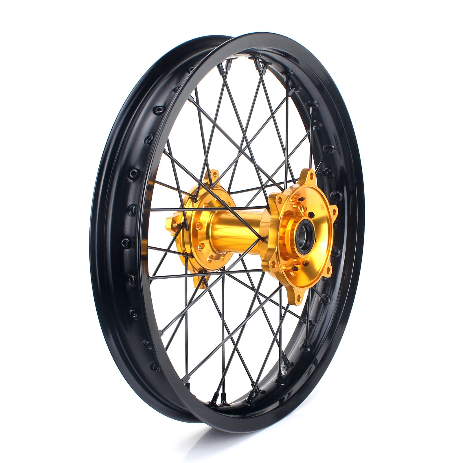 TARAZON 19 x 2.15 MX Rear Complete Wheel Kit Rim Spokes Gold Hub for Suzuki RMZ250 2007-2017 RMZ450 2005-2017 by TARAZON (Image #2)