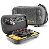 tomtoc Carrying Case for Nintendo Switch Lite, Portable Travel Storage Protective Case with 24 Game Cartridges and Original Patent for Switch Lite Console and Accessories, Gray