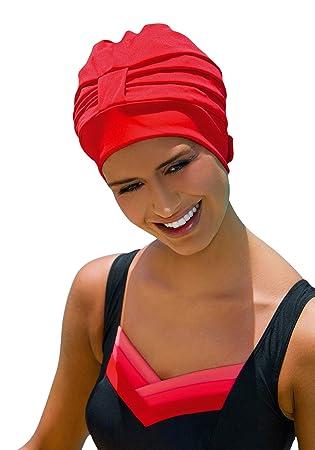 Bonnet de bain pour femme Bonnet de bain Turban Fashy AVEC FIXATION  REGLABLE blanc, noir