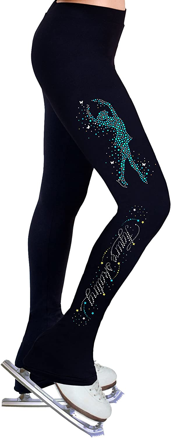 ny2 Sportswear Figure Skating Practice Pants with Spangles S102C