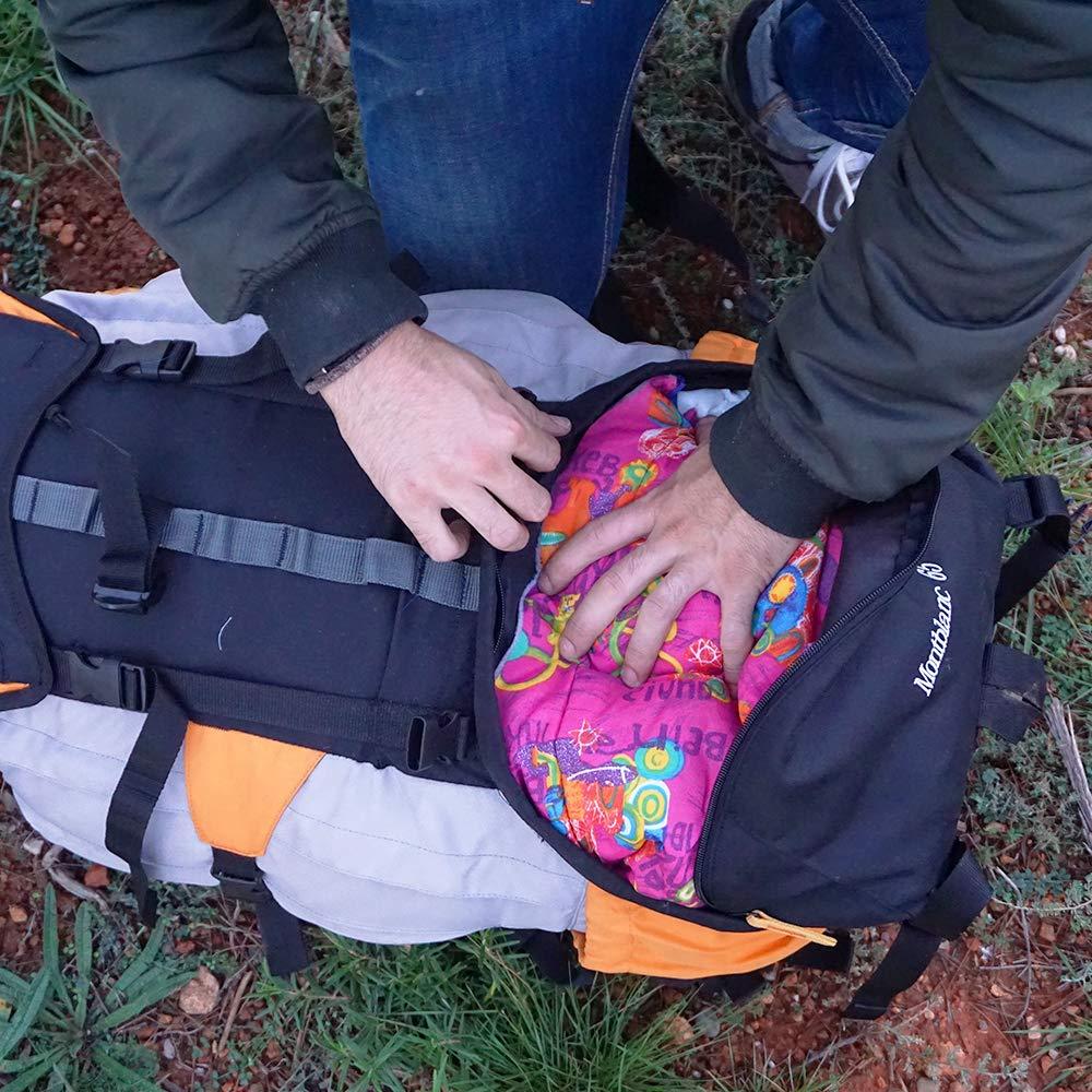 Hosa - Mochila de trekking MONTBLANC 65 litros - Mochila impermeable de senderismo, alpinismo y montañismo para ruta o viaje. Con estructura interna y capa ...