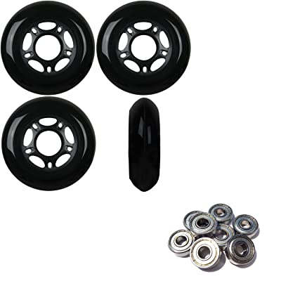 Player's Choice Outdoor Inline Skate Wheels 80MM 89a Black x4 W/ABEC 9 Bearings : Sports & Outdoors