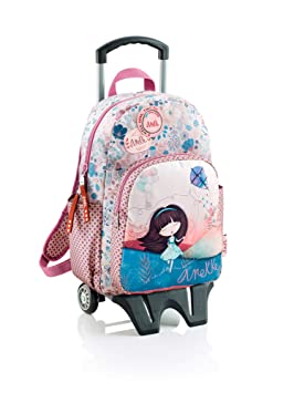Anekke Mochila Doble Compartimento con Carro Liberty: Amazon.es: Equipaje