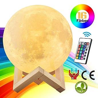 3D Mond lampe (20cm ),LED mond lampe für Kinderzimmer mit ...