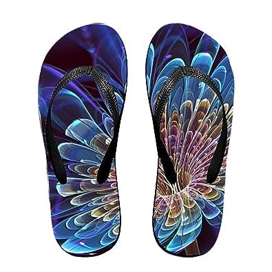 284faf716beb bigqiqi 3D Flower Flip Flops Funny Sandy Flat Thong Sandals Slipper Mat for  Women