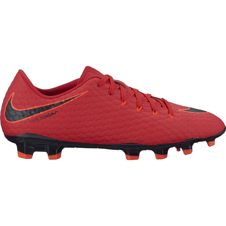 Rouge (universitÃt rouge noir-helles Karmesinrouge 616) Nike Hypervenom Phelon III FG, Chaussures de Football Homme 44.5 EU