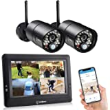 SEQURO GuardPro Wireless Security Camera System with 7 Inch Monitor, Weatherproof Outdoor Night Vision HD Camera and Home Sur