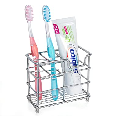hblife Stainless Steel Bathroom Toothbrush Holder Toothpaste Holder Stand