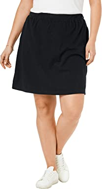 d8f398bbe0 Woman Within Women's Plus Size Stretch Cotton Skort