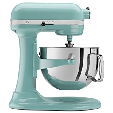 Kitchenaid Professional 600 Stand Mixer 6 quart, Aqua Sky (Certified Refurbished)