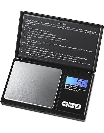 AMIR Escala de Bolsillo, Escala de Precisión Digital 100g / 0.01g, Balanza Digital