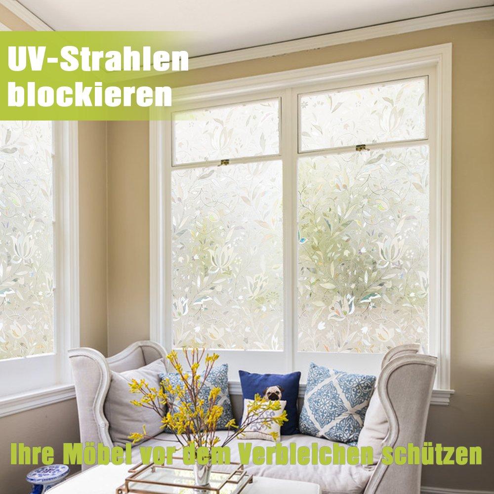 Homein 3D Fensterfolie Klebefolie Fenster Sichtschutzfolie