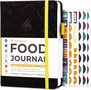 Clever Fox Food Journal Pocket - Daily Food Diary, Meal Planner to Track Calorie and Nutrient Intake, Stick to a Healthy Diet & Achieve Weight Loss Goals