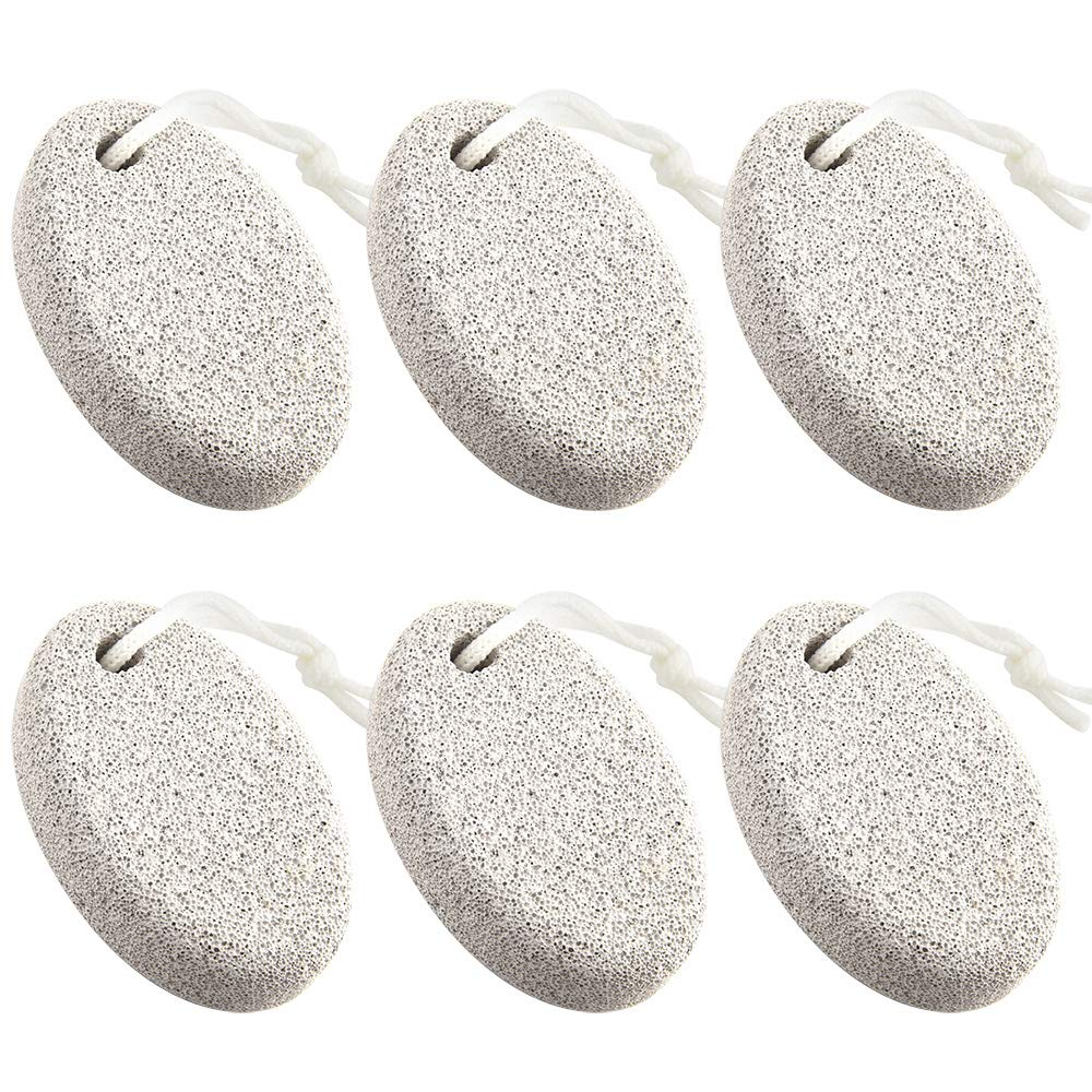 TUPARKA 6 Pieces Pumice Stone for Feet Natural Pumice Stone Pedicure Tools, Natural Foot File Exfoliation To Remove Dead Hard Skin