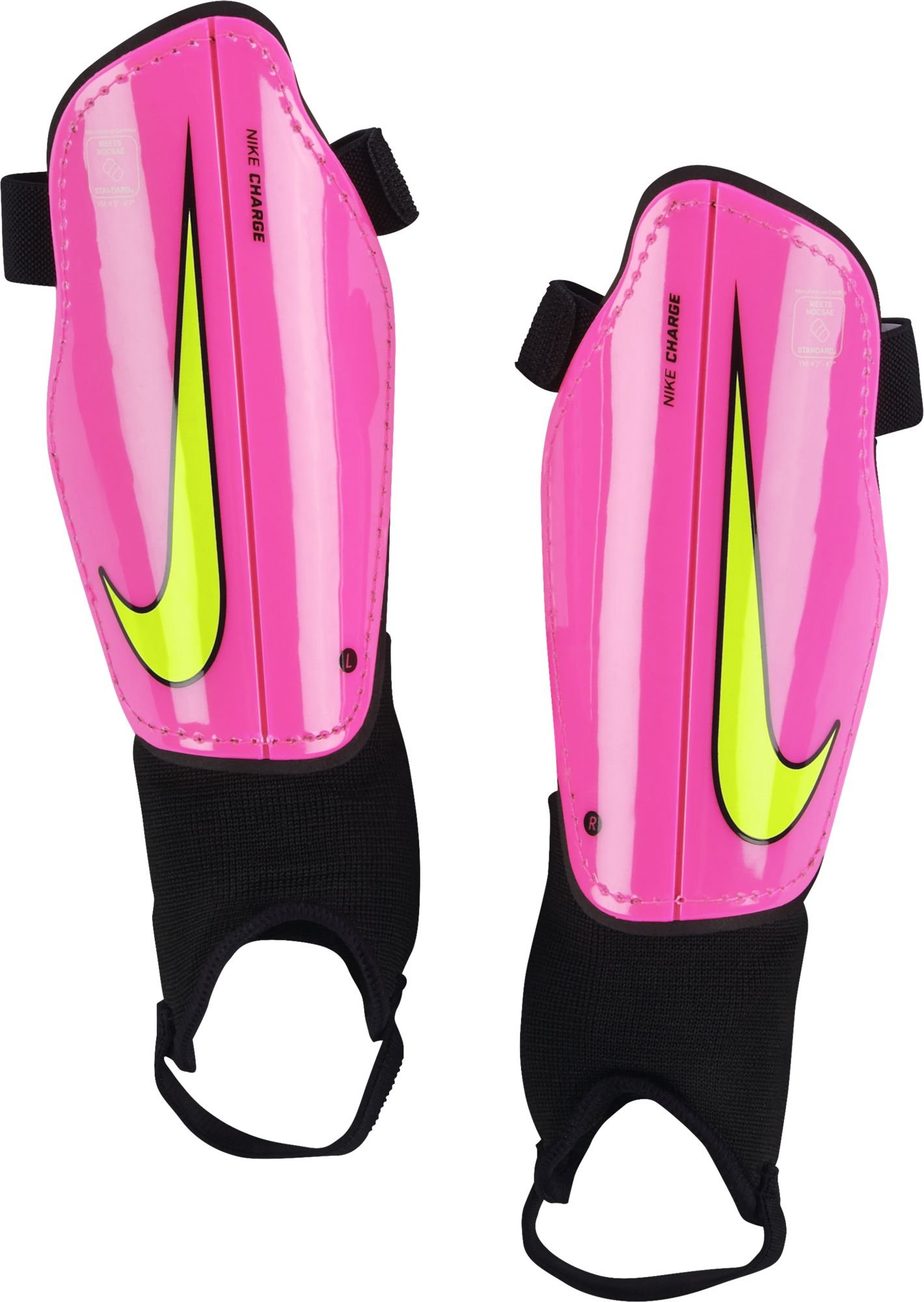 Nike Youth Charge 2.0 Soccer Shin Guard Hyper Pink/Black/Volt Size Small