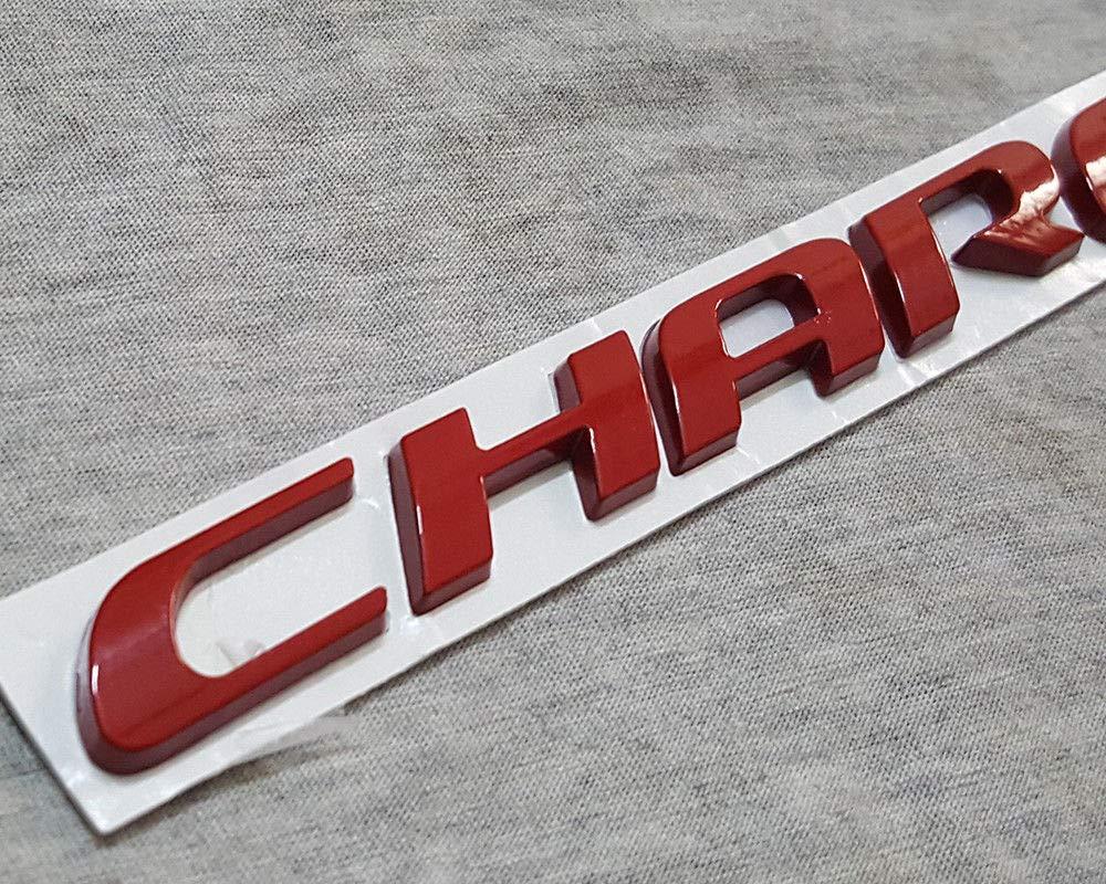 WindCar 3D CHARGER Emblem OEM Matte Finish Rear Trunk Metal Letters Stickers For Dodge Charger Black